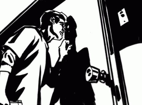 Artist: Lenin Delsol > Style: B&W Noir > Category: People, 20s, Beer