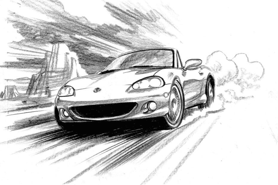 Artist: Lenin Delsol > Style: B&W Tone > Category: Cars