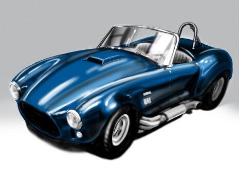 Artist: Lenin Delsol > Style: Hyper Color > Category: Automotive