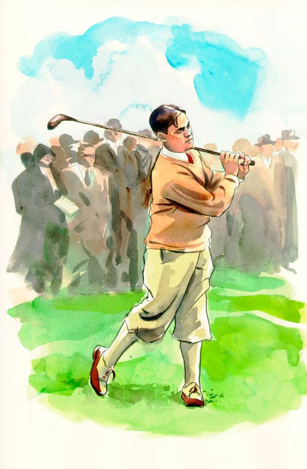 Artist: Lenin Delsol > Style: Watercolor > Category: Men, Sports
