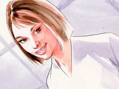 Artist: Lenin Delsol > Style: Watercolor > Category: Women, Feminine Products